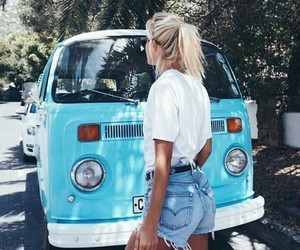 blue, girl, and summer image