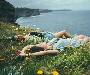 friends, flowers, and nature image