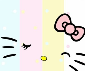 wallpaper, hello kitty, and cute image