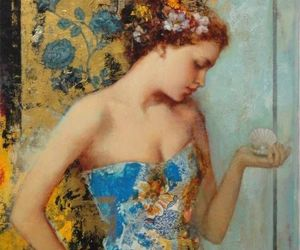 art, victorian, and flowers image