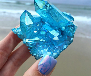 blue, crystal, and nails image