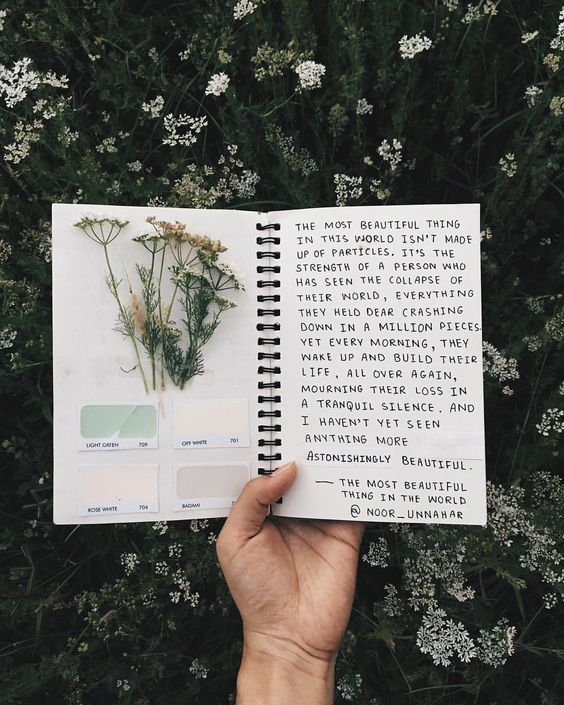 journal, art journal, and flowers image