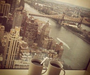 coffee, ny, and life pleasures image