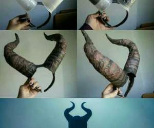 diy, horns, and maleficent image