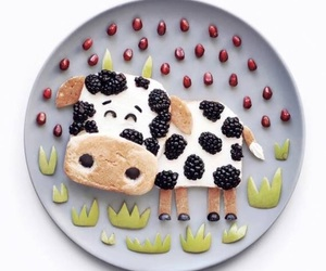 cool, cow, and food image