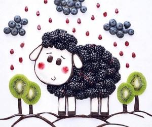 cool, food, and sheep image