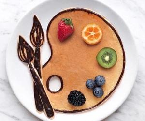 fruit, art, and breakfast image