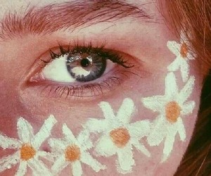 flowers and eyes image