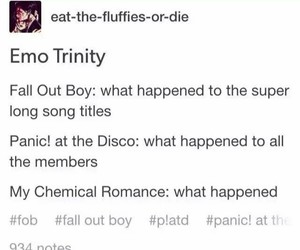 P!ATD, band, and fall out boy image