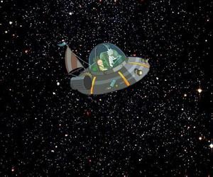 espacio, nave, and Y image