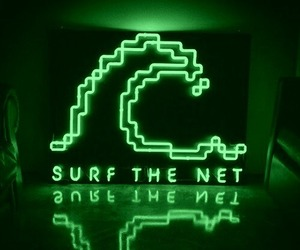 green, internet, and neon image