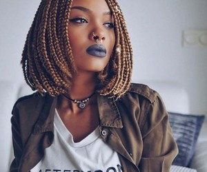 makeup, beauty, and braids image