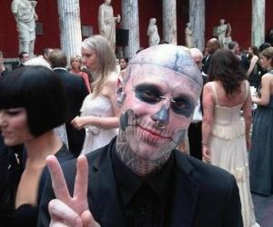 tattoo, zombie boy, and rick genest image