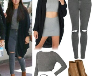 gomez, outfits, and selena image
