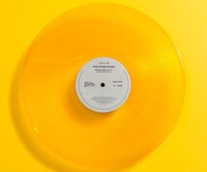 aesthetic, disc, and yellow image
