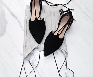 black, dress, and shoes image