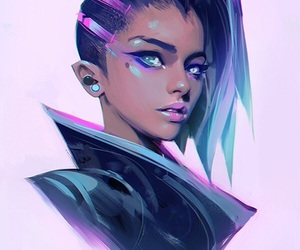 sombra, art, and overwatch image