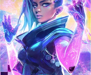 overwatch, sombra, and art image