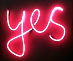 yes, neon, and light image