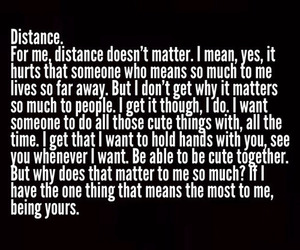 distance, long distance love, and love image