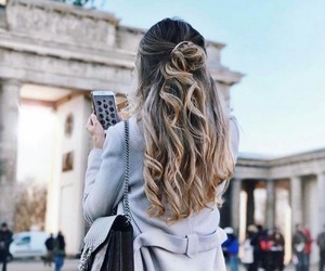 cold, fashion, and hair image