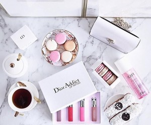 dior, makeup, and coffee image