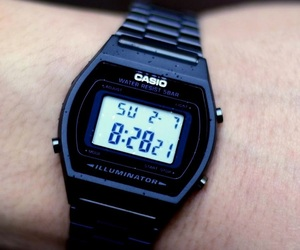 aesthetic, black, and casio image