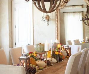 autumn, thanksgiving, and table decoration image