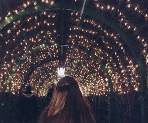 lights, autumn, and hair image