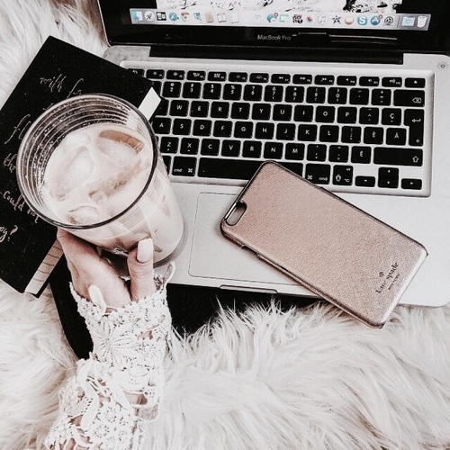 coffee, iphone, and nails image