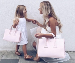 family, fashion, and daughter image