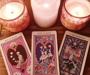 pink, tarot, and candle image