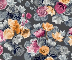 background, floral, and floral wallpaper image