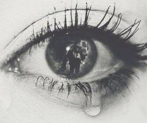sad, cry, and eye image