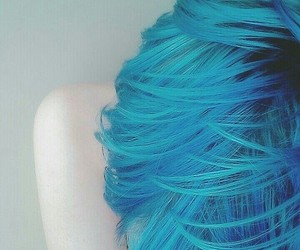 blue, hair, and turquise image