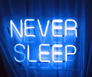 neon, blue, and sleep image