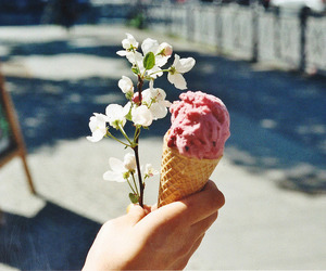 flowers, ice cream, and photography image