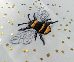bee, embroidery, and handmade image