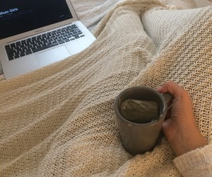 cozy, cup of tea, and fall image