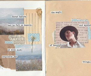 art journal, craft, and flower image