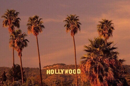 hollywood and california image