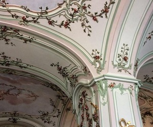 architecture, pastel, and pink image