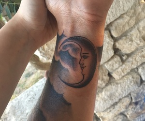 luna, tattoo, and tatuaje image