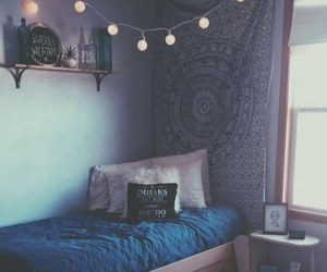 bedroom, bed, and indie image