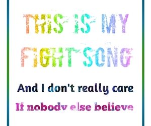 believe and fight song image