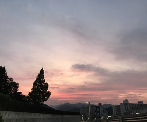 japan, silhouette, and sky image