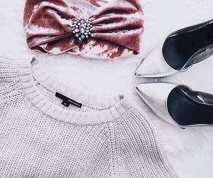 details, high heels, and white sweater image