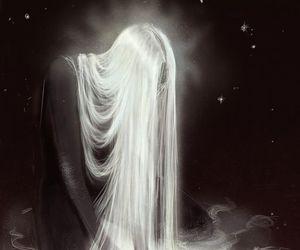 art, girl, and white hair image