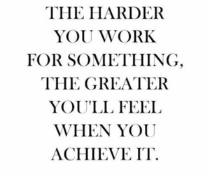 quotes, hard, and motivation image