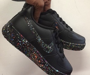 black sneakers, bright, and girl image